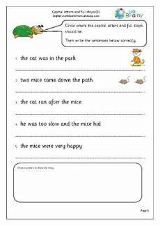 punctuation worksheets commas and stops 20715 capital letters and stops 1 teaching punctuation capital letters worksheet lettering