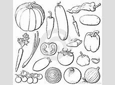 Vegetables Set B&w Royalty Free Stock Photos   Image: 6821228