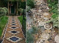 Mosaik Fliesen Muster Ideen - gartenweg anlegen design ideen mosaik fliesen klassische