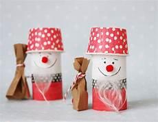 Weihnachtsmann Aus Toilettenpapierrolle Basteln Mit