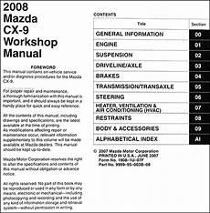 motor auto repair manual 2008 mazda cx 9 auto manual 2008 mazda cx 9 repair shop manual original
