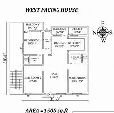 west face house plans per vastu 35 x38 9 quot west facing 3bhk house plan as per vastu shastra