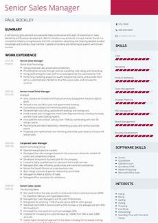 senior sales manager resume sles and templates visualcv
