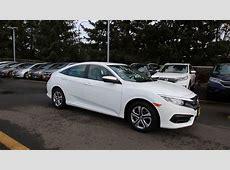 2016 Honda Civic LX   Taffeta White   GH533820   Seattle
