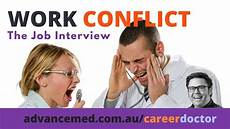how to answer the work conflict exle question interview tips youtube
