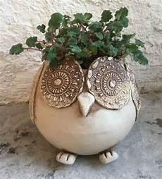 Töpfern Ideen Sommer - anleitung eule pflanztopf keramik pottery