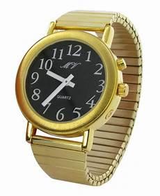 goldene uhren herren sprechende uhr armbanduhr goldene uhr metall armband