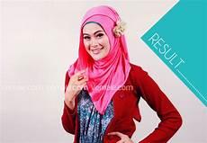 Cara Memakai Jilbab Pashmina Kaos Simple