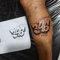 d 233 couvrir le tatouage chiffre dans toute sa composante