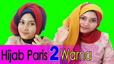 2 Cara Memakai Jilbab Segi Empat Dua Warna By