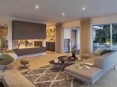 haus ideen modern fertighaus bungalow ambience 110 v3 mit walmdach bien