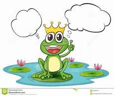 Ausmalbild Frosch Mit Krone Ein Denkender Frosch Mit Einer Krone Vektor Abbildung