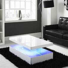 Coffee Tables With Lights high gloss white coffee table led lighting modern design