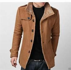 winter wool mens coat wool peacoat slim winter trench coat parka