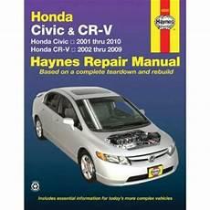 auto manual repair 1998 honda cr v parental controls honda civic cr v crv 2001 2010 haynes service repair manual sagin workshop car manuals repair