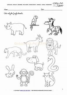 jungle animal worksheets 14319 or list coloring pages coloring pages