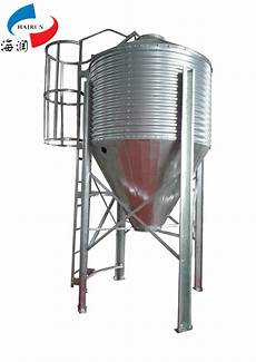 galvanized metal livestock feed silo poultry feed bins grain steel silo used for sale