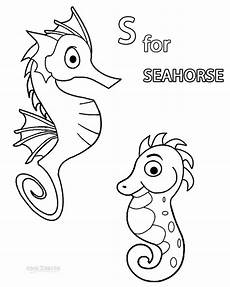 printable seahorse coloring pages for