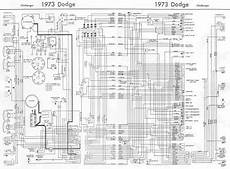 dodge challenger 1973 complete wiring diagram all about wiring diagrams