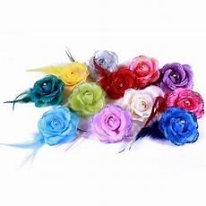 fleur tissu mariage pince broche mariage fleur tissu scintillant strass bleu