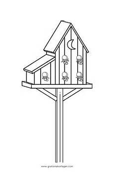 Malvorlagen Vogelhaus Gratis Vogelhauschen 18 Gratis Malvorlage In Diverse Malvorlagen