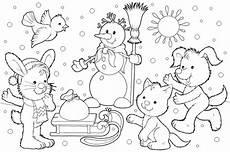Malvorlagen Winter Kostenlos Free Printable Winter Coloring Pages
