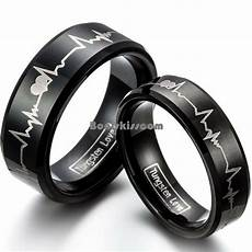 forever love promise black tungsten carbide ring couple engagement wedding band ebay
