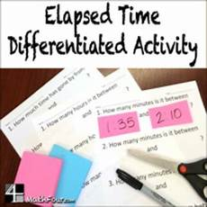 time worksheets differentiated 2965 elapsed time differentiated worksheets by mathfour tpt
