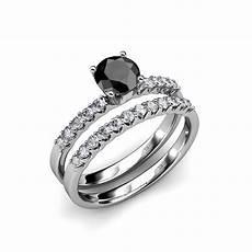 black and white diamond halo bridal ring wedding