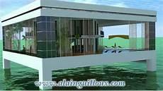 maison sur piloti project house overwater concrete maison sur pilotis en