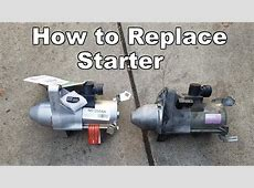 2006 2011 Honda Civic Starter Replacement   YouTube