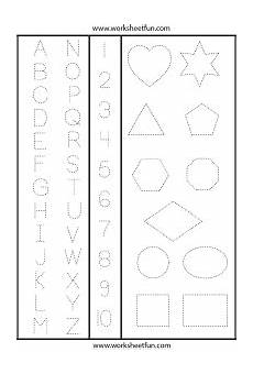 letters numbers and shapes tracing worksheet tons of printable dotted line worksheets shapes