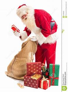 santa claus found his gift stock image image of santa