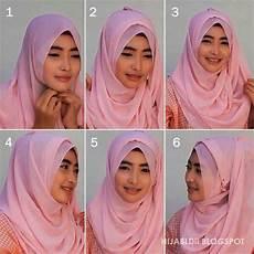 Wajah Bulat Contoh Menerapkan Jilbab Pashmina Untuk