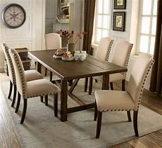 brentford rustic walnut rectangular dining room set from furniture of america coleman furniture
