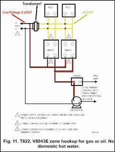 honeywell zone valve wiring diagram honeywell zone control valve v8043e1012 connect to line voltage doityourself com community