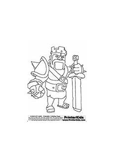 coloring page with the barbarian king character from the