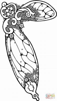 wing coloring page free printable coloring pages