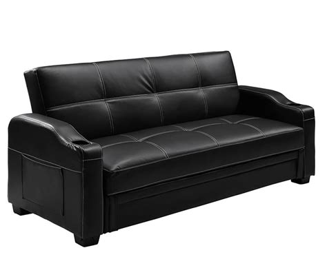 Lillian 109cm Black Faux Leather Sofa Bed *special Offer