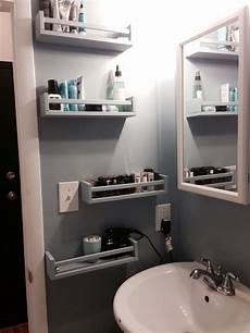 ikea bekvam spice racks as bathroom storage tiny
