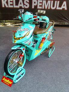 Modif Skotlet Honda Beat by Modifikasi Honda Beat Warna Putih Thecitycyclist