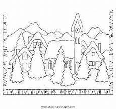 landschaften 34 gratis malvorlage in weihnachten