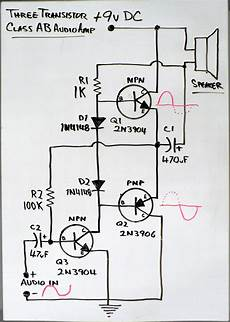 transistors simple lifier cuircuit electrical
