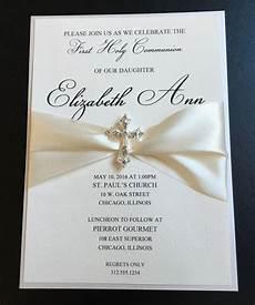 carte invitation communion embellished luxury communion invitation baptism