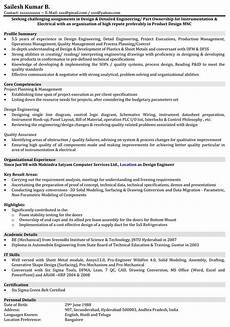 automobile resume sles mechanical engineer resume