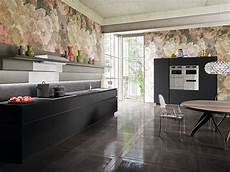 modern italian kitchen with concealed shelves and smart