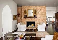 d 233 coration salon avec des murs en briques d 233 coration