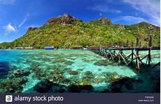 bohey dulang island semporna borneo malaysia stock