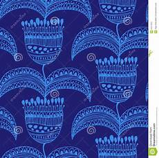 blue beautiful seamless pattern floral background