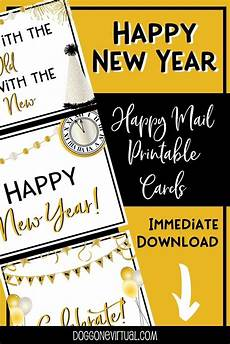 happy new year printable cards printable thank you cards printable postcards thank you cards